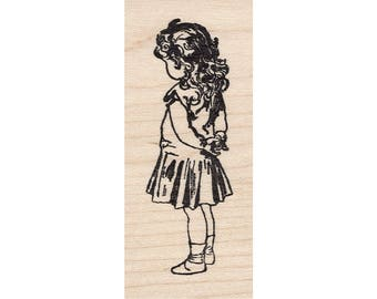 Bow in Hair 567E Beeswax Rubber Stamps Unmounted, Cling, Mounted Stamp People, Child Children Stamping