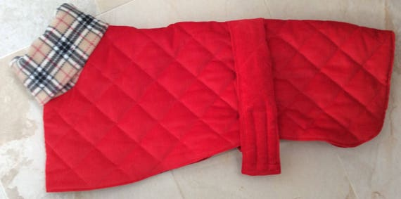 "Red 22"" whippet coat one of a kind"