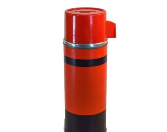 Vintage Thermos - Retro Aladdin Thermos, Red and Black Retro Aladdin Thermos, Mid Century Red and Black Thermos, Mid Century Aladdin Thermos