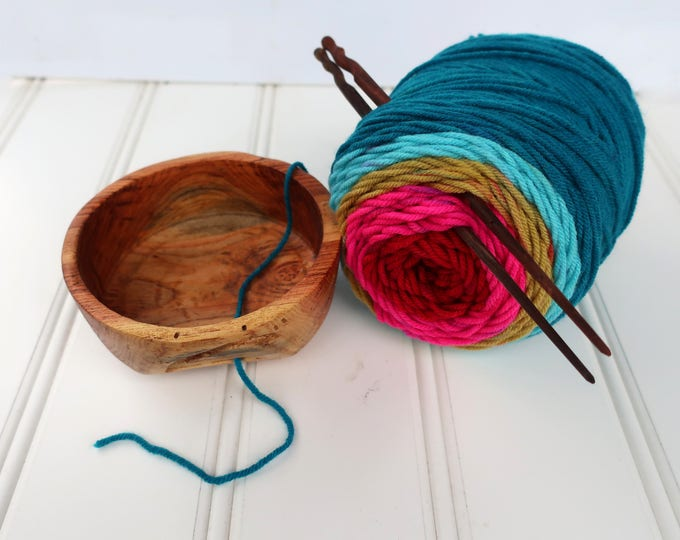 Honey Locust Yarn bowl for the Knitting person