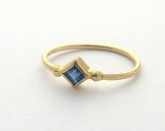 Sapphire ring, Engagement ring, 14k Gold ring, Blue sapphire ring, Minimalist jewelry, Thin Gold ring, Gold Sapphire ring, Minimalist ring