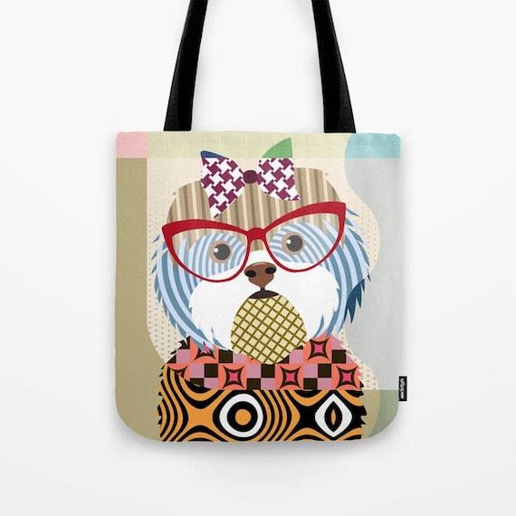 Shih Tzu Tote, Shih Tzu Bag, Shih Tzu Gifts, Shih Tzu Art Print, Dog Tote Bag, Dog Lover's Gift, Animal Lover Gift, Pet Tote Bag