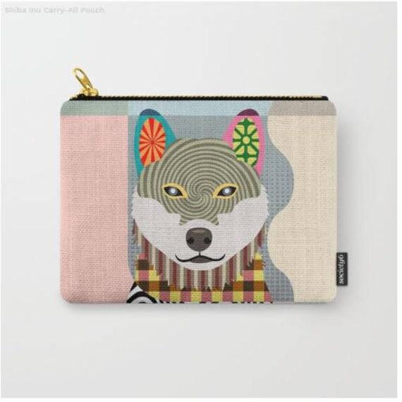 Shiba Inu Pouch, Shiba Inu Wallet, Shiba Inu Purse, Shiba Inu Gifts, Dog Wallet, Pet Pouch, Dog Pouch, Zipper Purse,  Dog Zipper Pouch