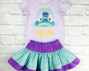 Pout Pout the Fish Personalized Shirt and Skirt Set