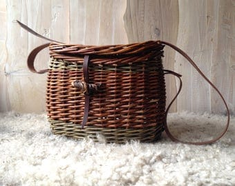 Willow handbag or fishermans basket.