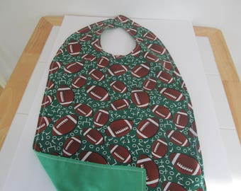 Adult Dining Bib / Clothing Protector - 2 Sided - Reversible Adult Clothing Protector (For Man or Women)