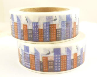 Skyline, Skyscraper, City, House Washi Tape - R