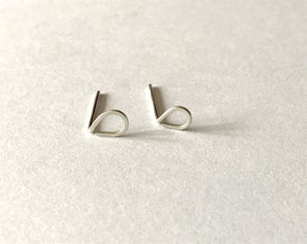 NEW Tiny Silver Raindrop earrings - sterling silver studs, teardrop earrings, minimal jewelry