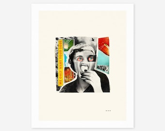 We Only Want Your Soul (Giclée Fine Art Print/Photo Print/Poster Print) Surreal, Abstract Collage