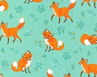 Fat Quarter Forest Fellows Nature Red Fox Foxes 100% Cotton Quilting Fabric