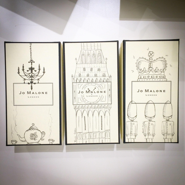 Jo Malone Gift Box Illustrations by Caroline Truong