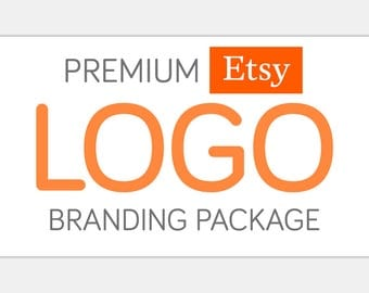 Premium ETSY Logo Branding Package | Custom Design - Matching Watermark, Brand Board, Full Shop Set, & Print and Web Graphics Included