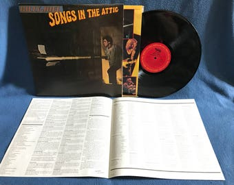 """Vintage, Billy Joel - """"Songs In The Attic"""", Vinyl LP, Record Album, Classic Rock, Original 1981 First Press, The Ballad of Billy the Kid"""