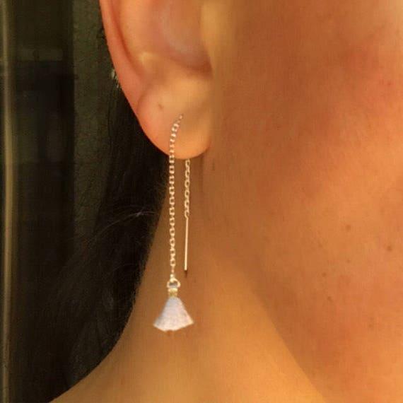 Tassel earrings, boho chic, threader earrings, boho jewelry, boho wedding, bridesmaids gift