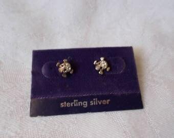 SS Pierced Earrings-Skull n Crossbones-R3848