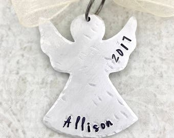 Christmas Ornament Angel - Angel Ornament - Baby's First Christmas Ornament - Child Ornament - Guardian Angel Ornament - Personalize Angel