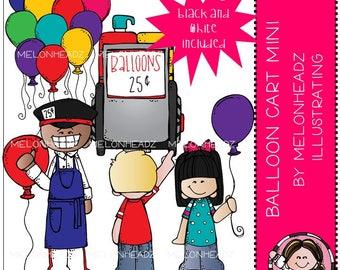 Balloon Cart clip art - Mini