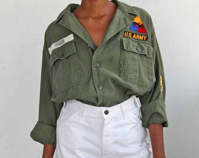 70s Patched Fatigue Shirt