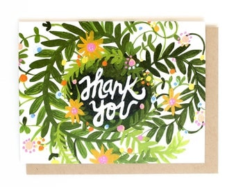 Thank You Spring Blooms Floral Card