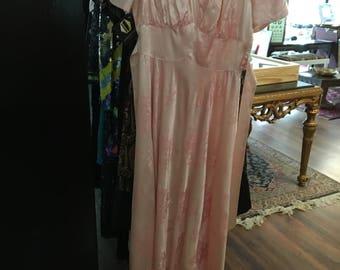 Vintage 1940's satin dress