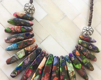 Rainbow Rock Necklace