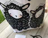 Sheep wool felt Tote, wool felt tote, Tote, Tote with fabric handles, Tote