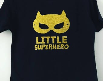 Little Superhero - glitter t-shirt