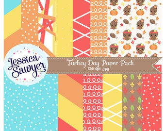 INSTANT DOWNLOAD, Thanksgiving Digital Papers or Fall Backgrounds