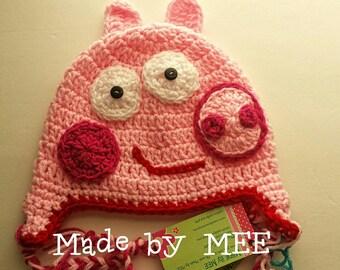 Peppa Pig Hat/Pig Hat/Piggy Hat/Pig hat/Pig Photo Prop/Piggy /Peppa Pig Character Hat/Pig Character Hat