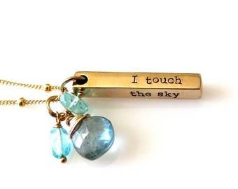 SALE Touch The Sky, Hillsong Lyrics, Christian Lyrics, Christian Hillsong, Christian Necklaces, Christian Jewelry, Worship Jewelry