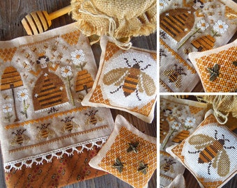 The Mother of the Bees - PDF DIGITAL Cross Stitch Pattern