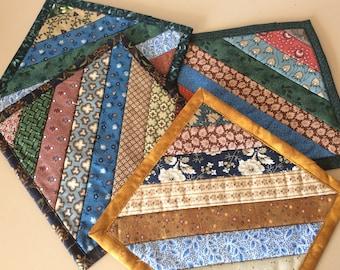 Civil War fabrics Drink coasters. Mug coasters. Patchwork coasters. 4 coasters. Reproduction fabrics