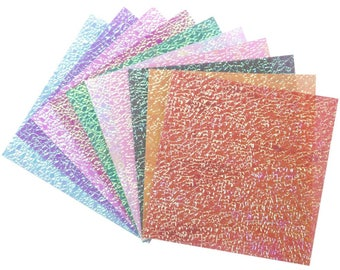 Crystal Iridescent Origami Paper