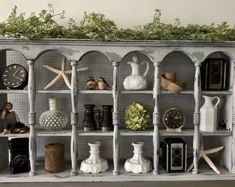 Vintage Wall Curio, Wall Shelf, Farmhouse Shelf, Wall Display Shelf, Rustic Wall Shelf, Shipping Not Included