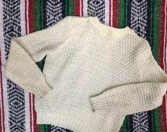 Vintage Sweater Cream Knit