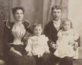 Vintage photograph Cabinet Card The Perfect Family
