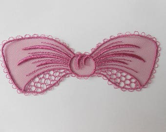 Pink big bow lace 13 x 4.5 cm