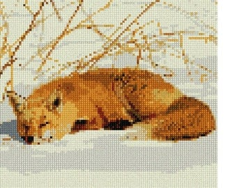 Needlepoint Kit or Canvas: Fox Resting