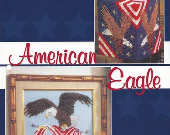 American Eagle Plastic Canvas Pattern, Tissue Box Cover, Wall Hanging, 4th Of July, Eagle Picture, Home Decor, Independence Day, Annie's