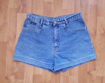 Vintage denim shorts High waisted shorts DENIM high Waisted shorts Denim Daisy Dukes Size 33 size Large Nr. 34