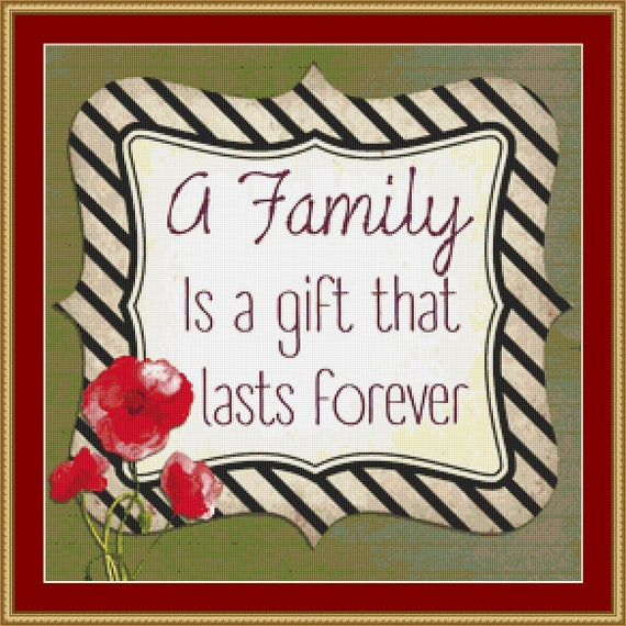 A Family Cross Stitch Pattern /Digital PDF Files /Instant downloadable