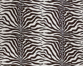 SCALAMANDRE SAVANNAH ZEBRA Linen Fabric 10 Yards Brown