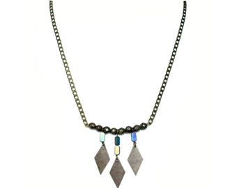 Leonie - grey necklace