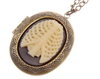 Rib cage Necklace locket