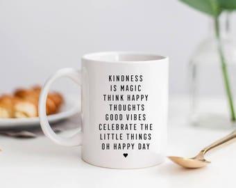 Affirmation-Happy White Ceramic Coffee Mug