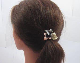 Leaves Ponytail Holder- Ponytail Holder- Leaves- Hair Accessories- Ponytail