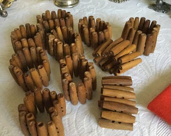 10 Solid Wood Rod Shaped Napkin Ring/Holders-Table Decoration-3 Pieces