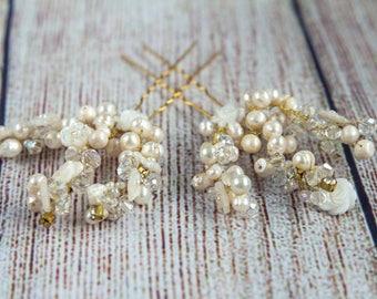 Wedding Hair Accessories Bridal Hair Pins Pearl Hair Pins Wedding Hair Pins Wedding Hair piece Ivory Pearl Hair Pins
