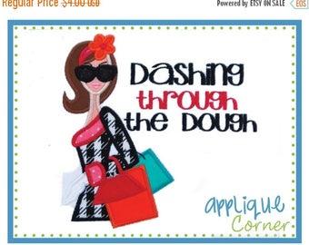 50% Off 810 Black Friday Dashing through the Dough digital design for embroidery machine by Applique Corner