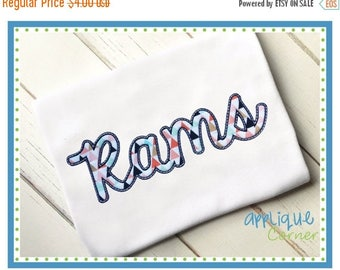 40% OFF INSTANT DOWNLOAD 3332 Rams Script applique digital design for embroidery machine by Applique Corner